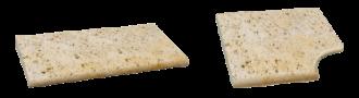 SEMMELROCK Bradstone Travero bazénový lem | béžová melírovaná 30/60/3,3-3,7 lem základní, béžová melírovaná 45/45//3,3-3,7 rohový prvek