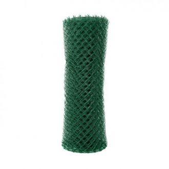 Čtyřhranné pletivo poplastované IDEAL Zn + PVC (s napínacím drátem) - výška 160 cm, zelená, 25 m