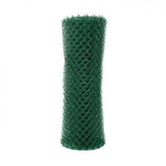Čtyřhranné pletivo poplastované IDEAL Zn + PVC (s napínacím drátem) - výška 125 cm, zelená, 25 m