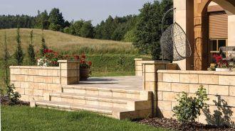 SEMMELROCK Bradstone Travero Schody | Travero - schod      40 x 35 x 15 cm, Travero - rohový schod 35 x 35x 15 cm