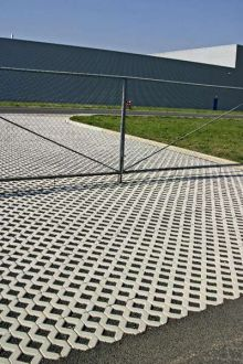 CS BETON Vegetační tvárnice VELKÁ  | 80 mm  60 x 40 cm šedá, 100 mm  60 x 40 cm šedá